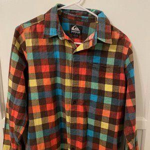 Quiksilver button down flannel - size XL kids